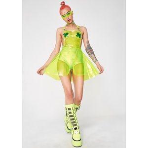 Dolls Kill Dresses - 🚫SOLD🚫 Club Exx Go Gurl Green Overall Dress